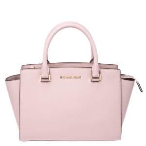 Michael Michael Kors Blossom Pink Leather Medium Selma Satchel