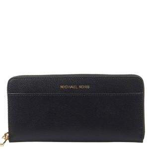 "Michael Kors Black Leather ""Jet Set"" Wallet"