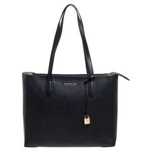 حقيبة يد مايكل كورس مرسر أكورديون كبيرة جلد سوداء