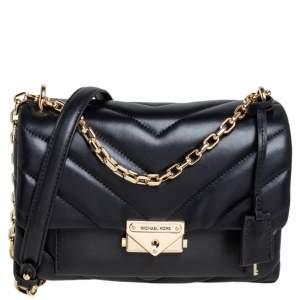 Michael Kors Black Quilted Leather Medium Cece Shoulder Bag