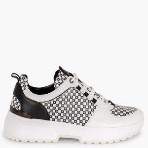 Michael Kors White Leather Cosmo Trainer Sneakers Size EU 40.5