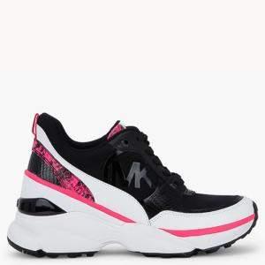 حذاء رياضي مايكل كورس ميكي نسيج وجلد أسود مرتفع مقاس أوروبي 38.5 (متاح لعملاء الإمارات العربية المتحدة فقط)