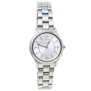 Michael Kors Silver Stainless Steel Runway MK6610 Women's Wristwatch 28 mm