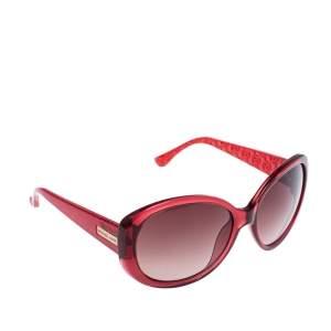 نظارة شمسية مايكل كورس كبيرة كارولينا أم2846أس متدرجة بنية/ حمراء