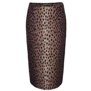 Michael Kors Brown Leopard Print Skirt S