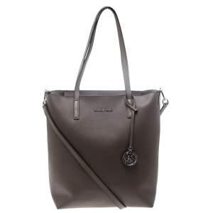 حقيبة يد مايكل كورس كونفرتيبل هيلي كبيرة جلد بيج داكنة