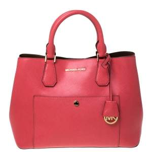 حقيبة يد مايكل كورس جيب كبسون جت ست جلد حمراء