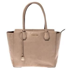 حقيبة مايكل كورس ميرسي كبيرة جلد حبيبية بيج