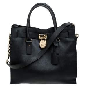 حقيبة يد مايكل كورس هاميلتون جلد سوداء