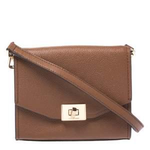 Michael Kors Brown Leather XS Cassie Crossbody Bag