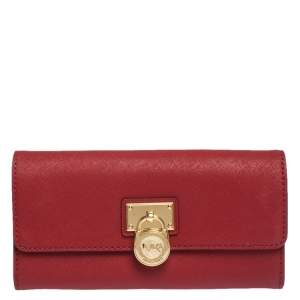 Michael Kors Red Leather Hamilton Wallet