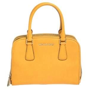 Michael Kors Yellow Leather Reese Satchel