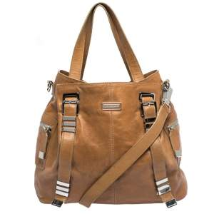 Michael Kors Tan Leather Buckle Strap Convertible Tote