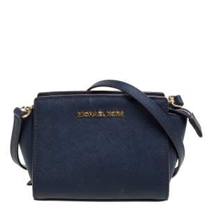 """حقيبة كروس مايكل كورس """"ميني سيلما"""" جلد أزرق كحلي"""