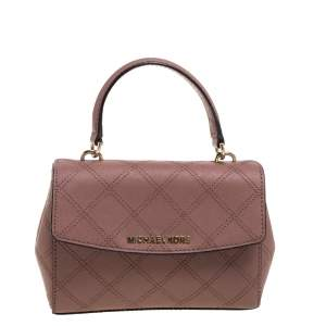Michael Kors Old Rose Leather Mini Ava Top Handle Bag