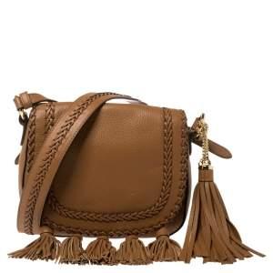 Michael Kors Brown Leather Moroccan Saddle Shoulder Bag