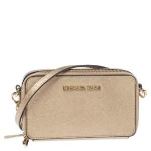 Michael Kors Metallic Gold Leather Shoulder Bag