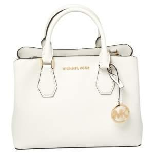 Michael Kors White Leather Savannah Satchel