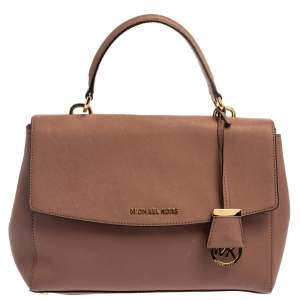 Michael Kors Antique Pink Leather Ava Top Handle Bag