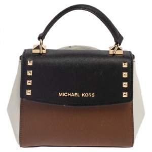 Michael Kors Tri Color Leather Mini Karla Top Handle Bag