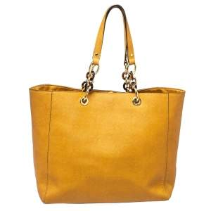 MICHAEL Michael Kors Light Brown Leather Chain Tote