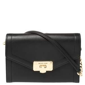 Michael Kors Black Leather Medium Kinsley Shoulder Bag