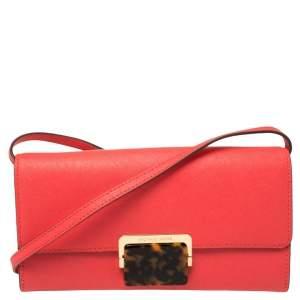 MICHAEL Micheal Kors Red Leather Cynthia Crossbody Bag