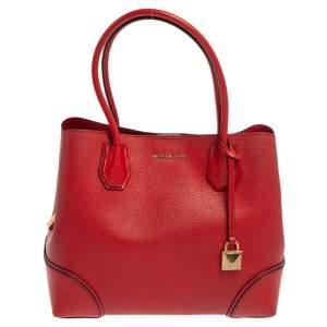 حقيبة يد مايكل كورس ميرسير غاليري متوسطة جلد أحمر