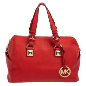 MICHAEL Michael Kors Red Saffiano Leather Boston Bag