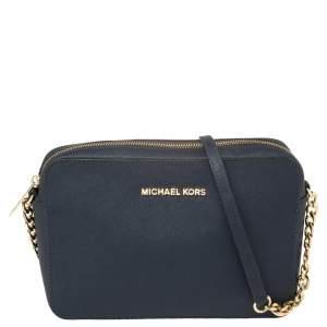 حقيبة كاميرا كروس مايكل كورس جيت سيت جلد أزرق كحلي