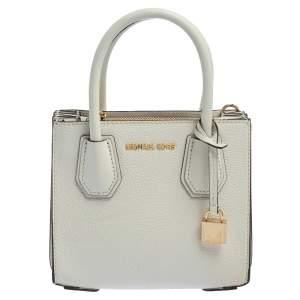 حقيبة مايكل كورس ميرسر جلد أبيض محبب