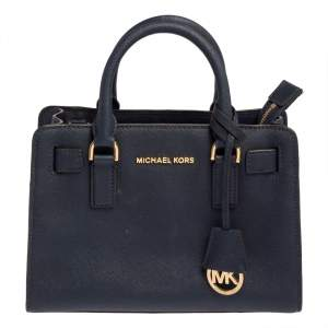 Michael Kors Blue Saffiano Leather Small Dillon Tote