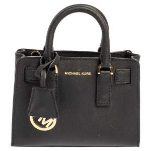 Michael Kors Black Leather Dillon Crossbody Bag