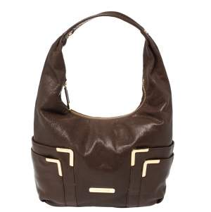 Michael Kors Brown Leather Hobo