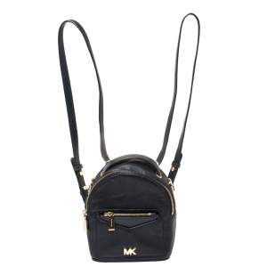 Michael Kors Navy Blue Leather Mini Jessa Backpack