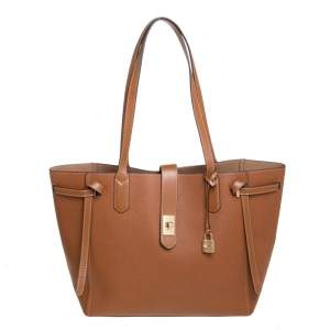 Michael Kors Brown Leather Large Cassie Tote