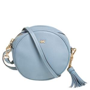 Michael Kors Blue Leather Round Crossbody Bag
