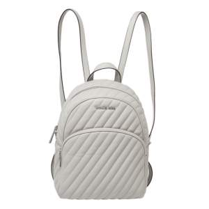 Michael Kors Grey Leather Medium Abbey Backpack