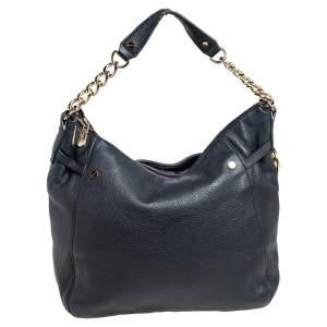 MICHAEL Michael Kors Black Leather Megan Hobo
