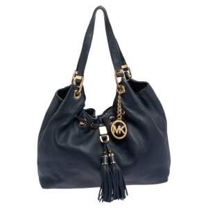 MICHAEL Michael Kors Blue Leather Large Camden Drawstring Shoulder Bag