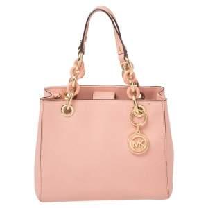 MICHAEL Michael Kors Pink Leather Cynthia Tote