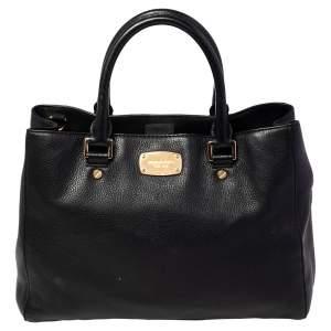 MICHAEL Michael Kors Black Leather Kellen Top Handle Bag