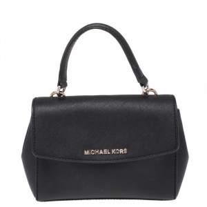 Michael Kors Black Leather Extra Small Ava Crossbody Bag
