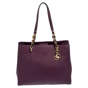 Michael Kors Purple Leather Sofia Tote