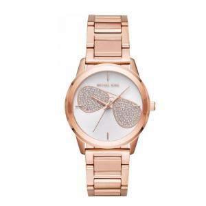 Michael Kors Silver Rose Gold Diamond and Stainless Steel Hartman Women's Wristwatch 38MM