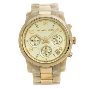 Michael Kors Gold Stainless Steel Acetate MK5139 Women's Wristwatch 38 mm