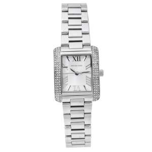 Michael Kors Silver Stainless Steel Petite Emery MK3289 Women's Wristwatch 27 mm