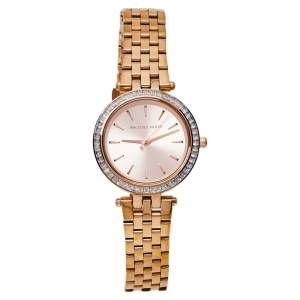 Michael Kors Rose Gold Tone Stainless Steel Mini Darci MK3366 Women's Wristwatch 33 mm