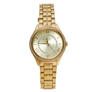 Michael Kors Gold Tone Crystal Pavé MK3719 Lauryn Women's Wristwatch 38 MM