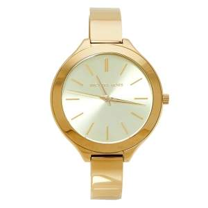 Michael Kors Gold Tone Stainless Steel Runway MK3275 Women's Wristwatch 42MM